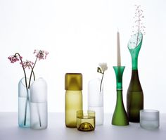 The TranSglass Recycled Vases and glassware by Emma Woffenden & Tord Boontje are not only beautiful, but also a practical green design solution