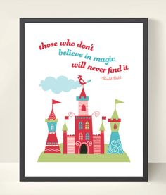 11x14 Magic Quote Wall Art Print by OwlUNeedIsLove on Etsy, $16.95