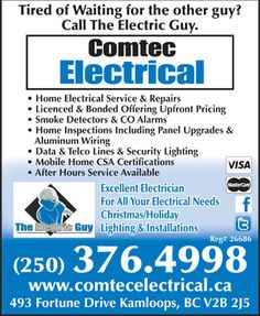 Comtec Electrical Kamloops Electrician Tired Of Waiting, The Other Guys, Home Inspection, Mobile Home, Mobile Homes, Motorhome