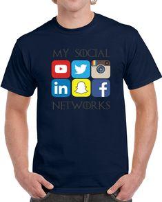 My Social Networks Media Logos  T Shirt