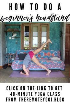 Yoga Headstand, Yoga Inversions, Basic Workout, Full Body Workout At Home, Yoga Sun Salutation, Different Types Of Yoga, Learn Yoga, Basic Yoga, Yoga At Home