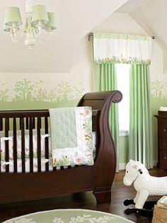 New Baby Girl Nursery Room Ideas Dark Furniture Rocking Chairs Ideas Nature Themed Nursery, Baby Boy Nursery Themes, Baby Boy Rooms, Baby Boy Nurseries, Nursery Ideas, Room Ideas, Nursery Pictures, Kid Rooms, Nursery Inspiration