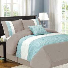 Sweet Home Collection Fall River Luxury 5 Piece Comforter Set & Reviews | Wayfair
