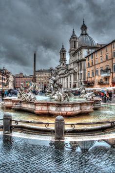 Plaza Navona, Roma, Italia.