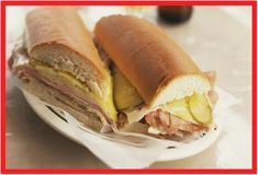 This recipe for a Cuban sandwich or Cubano is a delicious grilled sandwich made with ham, pork, Swiss cheese, pickles, mustard and Cuban bread. Leftover Pork Loin Recipes, Leftover Pork Tenderloin, Pork Tenderloin Sandwich, Pork Tenderloin Recipes, Leftovers Recipes, Pork Recipes, Roast Brisket, Game Recipes, Beef Tenderloin