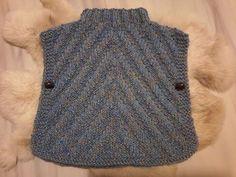 Tuto tricot poncho bébé - YouTube