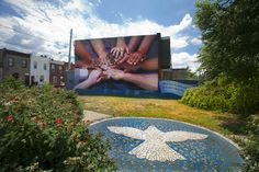 'Peace Wall' is one of 47 murals throughout the city that celebrate African American culture in Philadelphia.