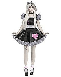 Adult Broken China Doll Costume