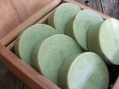 3 bars Green Tea Mint Handmade Soap Shave or Bath Bar
