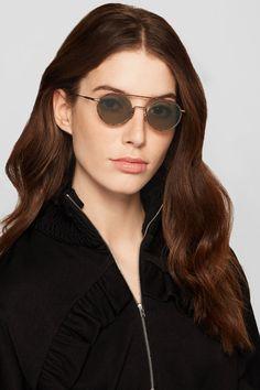 ACNE STUDIOS Winston round-frame acetate and gold-tone sunglasses