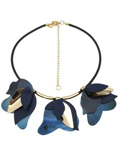 MARNI - layered leaf necklace 4 #farfetch #wonderful store