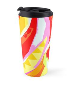 """""""Flamenco"""" Travel Mugs by PolkaDotStudio 
