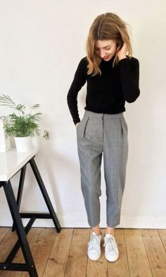 Ideas Womens Dress Pants Outfits Winter Work Attire For 2019 Business Casual Outfits For Women, Business Outfit, Casual Work Outfits, Work Attire, Work Casual, Casual Chic, Business Casual Sneakers, Business Clothes, Office Outfits