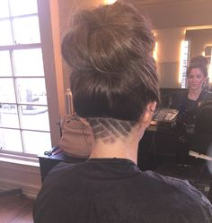 Under cut design done by me in the salon! The Effective Pictures We Offer You About nape undercut lo Shaved Undercut, Undercut Long Hair, Undercut Women, Undercut Hairstyles, Updo Hairstyle, Undercut Hair Designs, Curly Hair Styles, Natural Hair Styles, Shaved Hair Designs