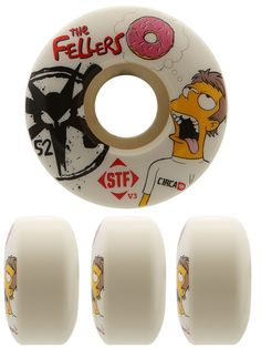 Bones STF Fellers  Dohnuts  Simpsons  Skateboard  Wheels  28.99 22146092002