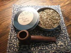 Check out this item in my Etsy shop https://www.etsy.com/listing/265112075/4-oz-tin-of-hand-mixed-tobacco-free