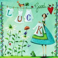 Good luck artist Illustration by www.MilaMarquis.com and www.Facebook.com/MilaMarquisillustration