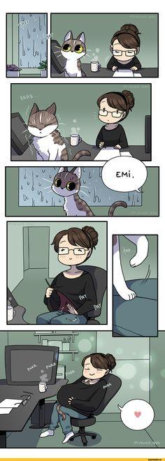zombiesmile,Смешные комиксы,веб-комиксы с юмором и их переводы,котэ,прикольные картинки с кошками
