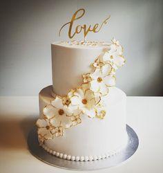 Wedding cake 40th Cake, Birthday Cake, Wedding Cake Designs, Wedding Cake Toppers, Christening Cake Girls, Wedding Cake Inspiration, Elegant Cakes, Beautiful Wedding Cakes, Occasion Cakes