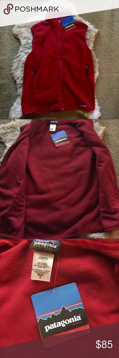Patagonia synchilla Vest New with tags red Patagonia vest size small no flaws (will fit a medium in women's) Patagonia Jackets & Coats Vests