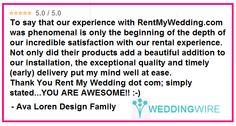 These kind words made us smile.  Thank you @avalorendesign -- YOU are awesome! #feelingthelove #ilovemyjob #thisiswhywedoit  #diy #rentmywedding #wedding #uplighting #diywedding #weddinginspiration #inspiration #celebration #weddingreception #party #weddingplanner #dreamwedding