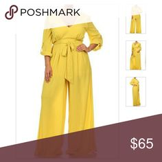 Jardan Jumpsuit in Yellow Wide leg Jumpsuit with roll up sleeves NO OFFERS Pants Jumpsuits & Rompers