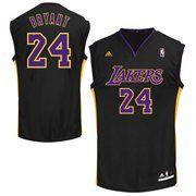 29051bfa4 adidas Kobe Bryant Los Angeles Lakers Revolution 30 Alternate Replica Jersey  - Black La Lakers Jersey
