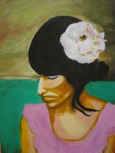 Mulher com Flor