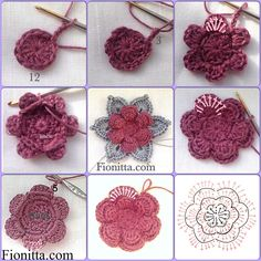 Here's a nice little visual crochet pattern found via Fionitta.  Lovely flower!