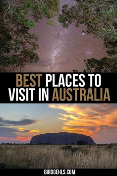 Australia is massive and it's hard to know exactly where to go on a trip. Here are some of the best places to visit in #Australia, from beautiful sand islands, lush rainforests, interesting and colourful cities and the red and rugged outback. / #VisitAustralia / #SeeAustralia / Australia Travel Itinerary / Australia Road Trip / East Coast Australia / #WesternAustralia / #Victoria / #NorthernTerritory / #NewSouthWales / #Queensland / #Tasmania / #SouthAustralia / #AustralianCapitalTerritory /