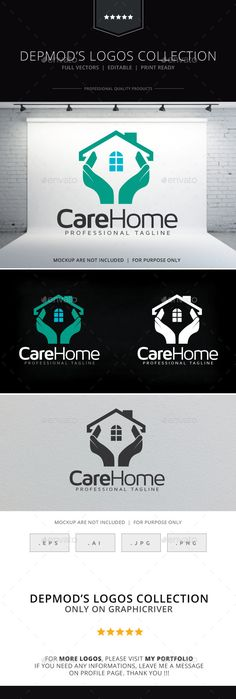 Care Home Logo Design Template Vector #logotype Download it here: http://graphicriver.net/item/care-home-logo/9571766?s_rank=725?ref=nexion