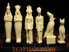 Egyptian Ivory Chess Pieces