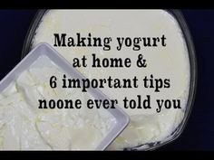 Homemade Yogurt Natural & Plain, 6 Tips You& Never Heard Before - YouT. Homemade Cheese, Homemade Yogurt, Yogurt Ice Cream, Greek Yogurt, Making Yogurt, Natural Yogurt, Fresh Cream, Soft Serve, Keto Snacks