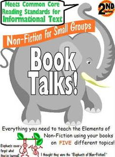 *Grade 2 Common Core Non Fiction Reading Groups - Student Jobmarks, Projects/Templates and Elements/Standards Posters for 2.CCSS.RI. Five different non-fiction topics - Animals, Outer Space, Weather, Human Body and Biographies. $