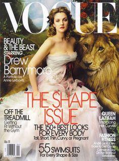 Drew Barrymore by Annie Leibovitz. April 2005