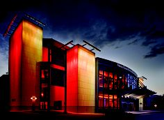 The Marcus Center for the Performing Arts - a different color everyday!
