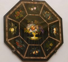 Octagonal Tabletop with fruit Firenze Museo delle Pietre Dure #TuscanyAgriturismoGiratola