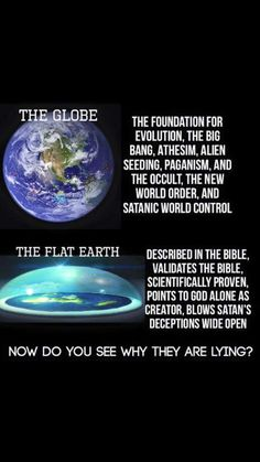 "Another Bible fable, ""the Earth is flat"". Religiously delusional fools actually fall for this bullshit....."