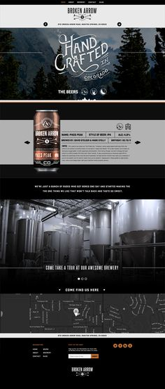 Broken Arrow beer website | #webdesign #it #web #design #layout #userinterface #website #webdesign < repinned by www.BlickeDeeler.de | Take a look at www.WebsiteDesign-Hamburg.de