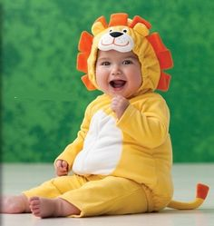 Halloween Costume Lion Yellow Orange for toddler 3-6 months #baby #costumes