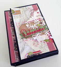 """Minialbum from Michelle for Danipeuss """"Weihnachten kann kommen"""" Tutorial and more pictures: www.crela.ch #Weihnachtenkannkommen www.danipeuss.de"""