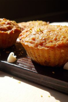 MAGICAL COCONUT FLUFF VEGAN GLUTEN-FREE CARROT CUPCAKES -- These magical creamy cupcakes will just melt in your mouth! Vegan Gluten Free, Paleo, Melt In Your Mouth, Vegan Desserts, Baked Goods, Free Food, Carrots, Muffin, Coconut