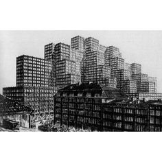 HANS POELZIG 'MAXIMUM', COMPETITION FOR A CONVENTION CENTER IN HAMBURG, 1924-25