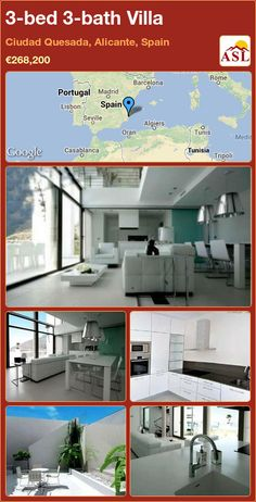 3-bed 3-bath Villa in Ciudad Quesada, Alicante, Spain ►€268,200 #PropertyForSaleInSpain