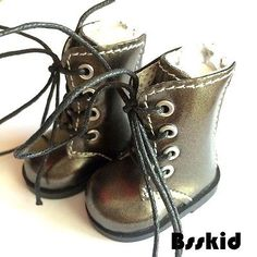 Y01-BJD-Yo-SD-1-6-Dollfie-13-Effner-12-Kish-Doll-Shoes-Boot-Metallic-Grey-Zip
