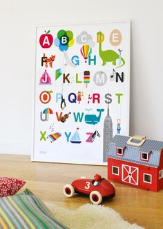 ABC Print | Alphabet Poster | Kids Wall Art | Showler & Showler