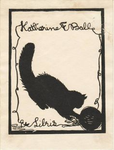 Ex Libris by Grace Ross for Katharine F. Ball, 1900