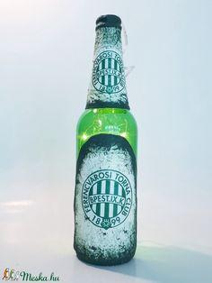 FTC dekorációs világítós üveg, asztali dísz, lámpa futball rajongóknak  (Biborvarazs) - Meska.hu Ac Milan, Manchester United, Real Madrid, Liverpool, Chelsea, Barcelona, Bottle, Drinks, Man United