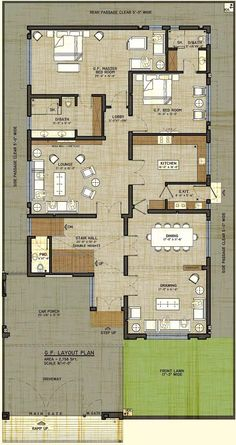 House plan drawing 40x80 islamabad design project for 40x80 house plan