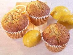 Method: Preheat oven to Line a muffin tin with paper cases. Sieve the flour, caster sugar, salt and baking powder into a bowl. Add the lemon rind and mix well. In a jug beat together the milk, oil… Odlums Recipes, Muffin Recipes, Sweet Recipes, Cooking Recipes, Lemon Drizzle Muffins, Something Sweet, I Foods, Baked Goods, Powder